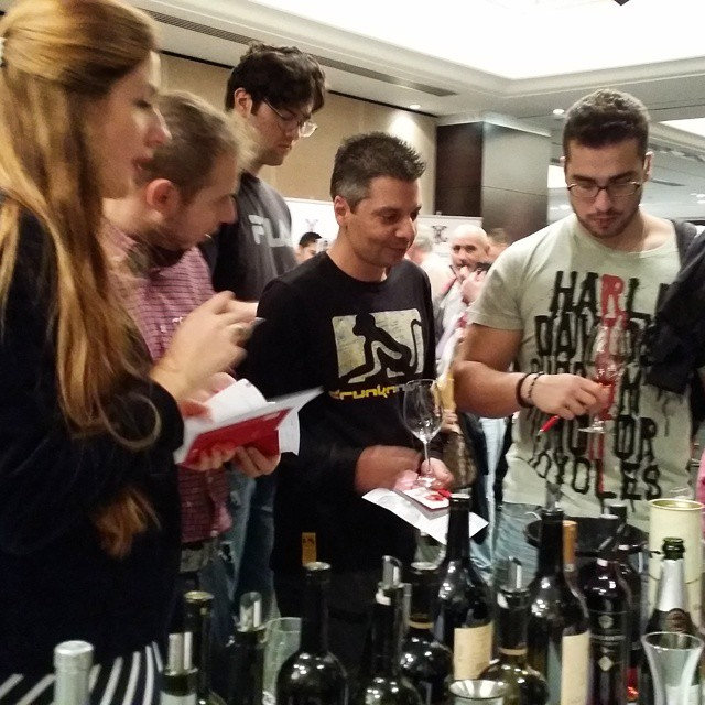 Young #winelovers in action #cellierwinefair #drinkgreek #greekgrapes #winefestival #passion #inspiring #future #wineexperience