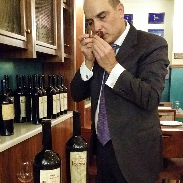 Uncorking old vintages is like a ritual. And the cork has lots to say to our Head Oenologist Panagiotis Kyriakidis.  #wineexperience #winelover #vintage #greekwine #drinkGreek #inmyglass #revelation #wow #cork #magic #inspiring #Rapsani #rapsanieffect #rapsanilover #feelinglikeagod #magnumbottle