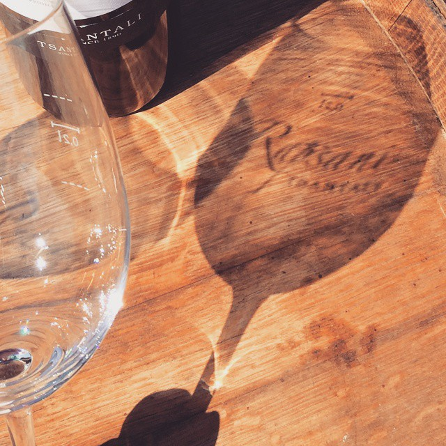 Guess the divine wine we are about to enjoy... #shadow #fun #inmyglass #winelover #drinkGreek #greekwine #greekgrapes #barrel #vineyard #Rapsani #bliss #xinomavro #Mtolympus #krassato #stavroto #divine #rapsanieffect #feelinglikeagod #sun #wine #guess
